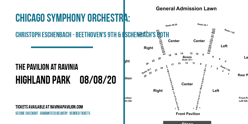Chicago Symphony Orchestra: Christoph Eschenbach - Beethoven's 9th & Eschenbach's 80th at The Pavilion at Ravinia