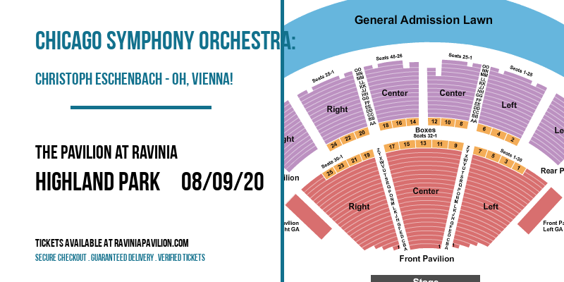 Chicago Symphony Orchestra: Christoph Eschenbach - Oh, Vienna! at The Pavilion at Ravinia