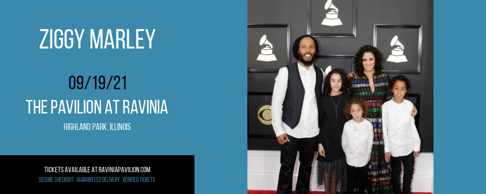Ziggy Marley [CANCELLED] at The Pavilion at Ravinia